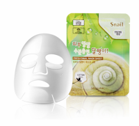 3W CLINIC НАБОР/Тканевая маска для лица МУЦИН УЛИТКИ Fresh Snail Mucus Mask Sheet