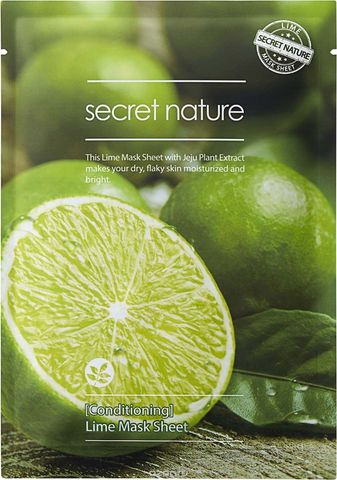 Secret Nature Бодрящая маска для лица с лаймом Lime Mask Sheet [Conditioning] 25мл